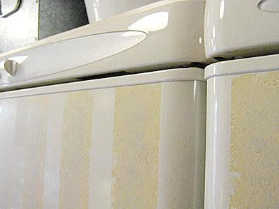 striped fridge - detail