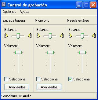 Configuracion Audio FRAPS ( josf) Mezcla+estereo