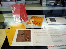 Exposition vitrine librairie Paris 6e