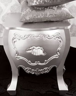 Add a feminine and glamorous touch to your bedroom with the silver finish  furniture from. HOME INTERIOR 2010  Silver Glam   from Brocade