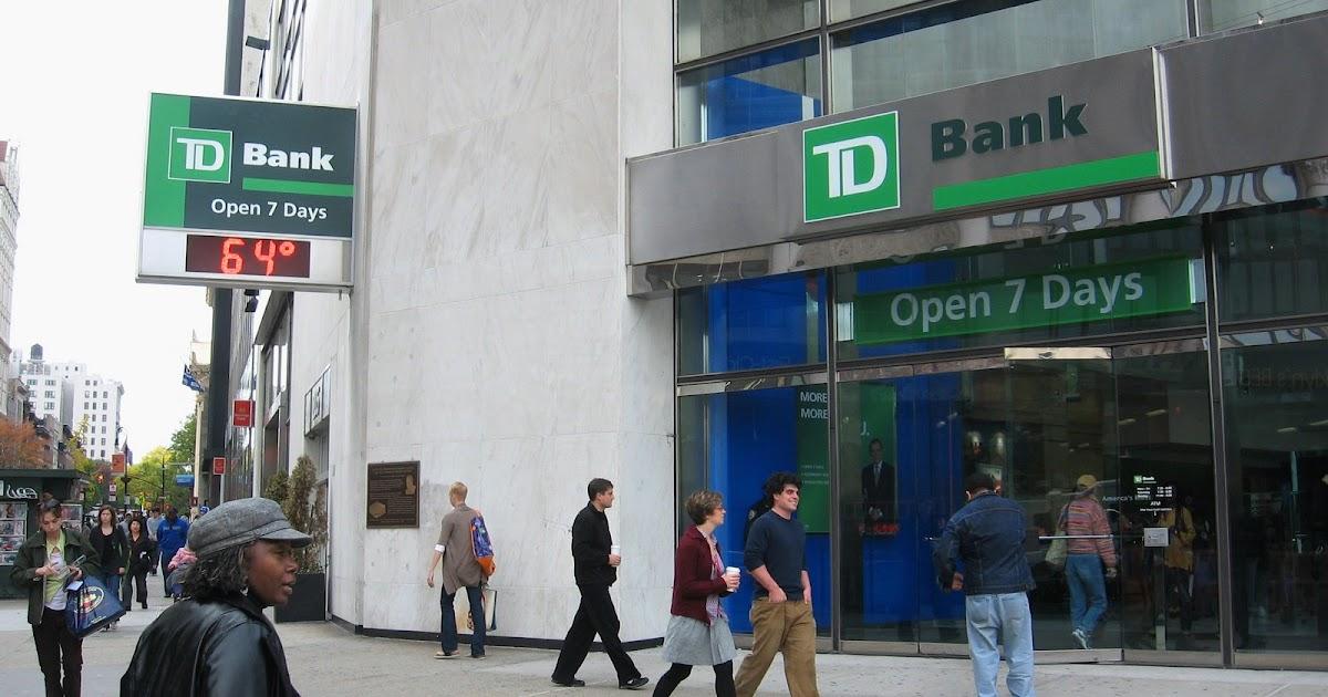 td bank change machine locations