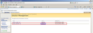 Deploy a WSP in Solution Management 4