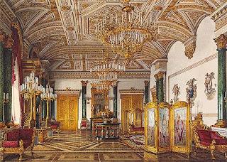 Sala de Malaquita en el Ermitage