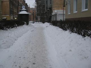 Nieve en San Petersburgo