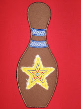 Bowling Pin ~ Embroidery Boutique