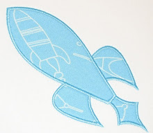 Rocket ~ Planet Applique