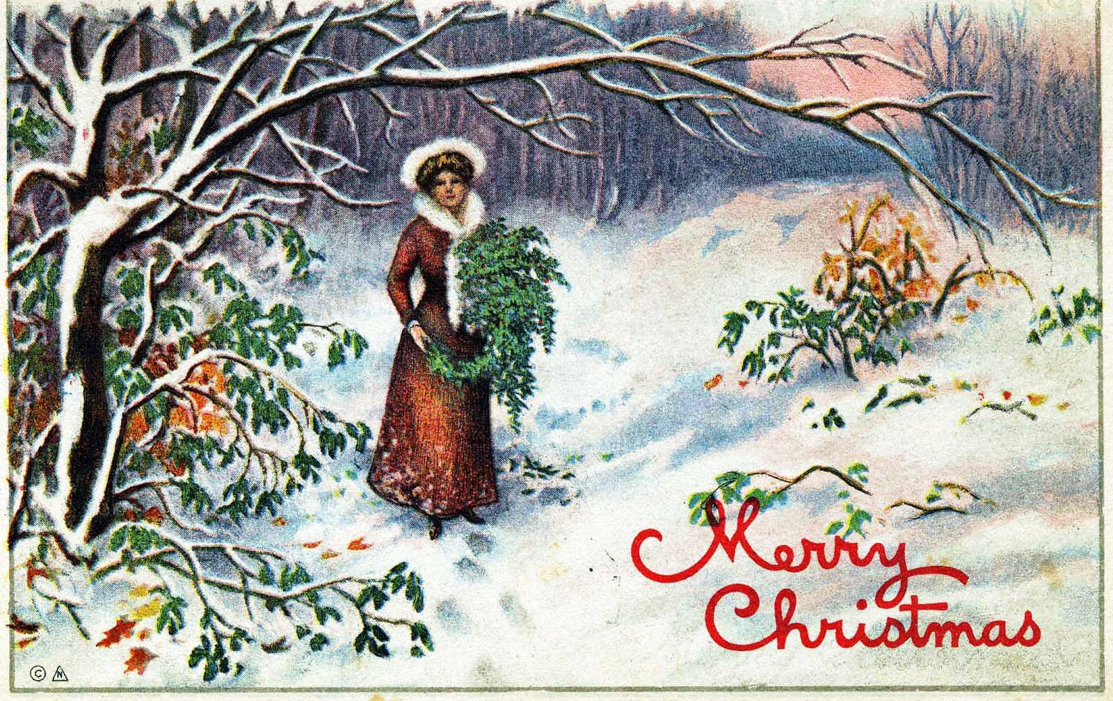 Merry Christmas Postcard 7