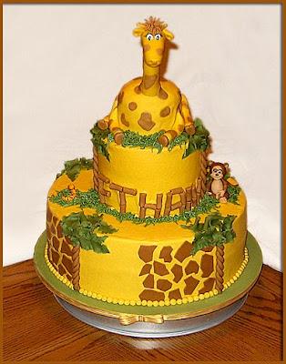 Happy 1st Birthday Ethan Giraffe Cake