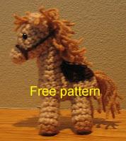 Free crochet pattern horse pony amigurumi