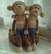 Free Amigurumi Patterns: Crocheted Monkey