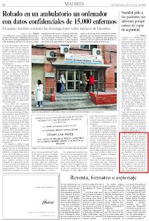 Página 36 del diario El País del 29/03/07
