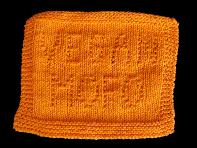 Super Cool Vegan MoFo Dishcloth