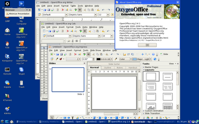oxygenoffice on pclinuxos minime