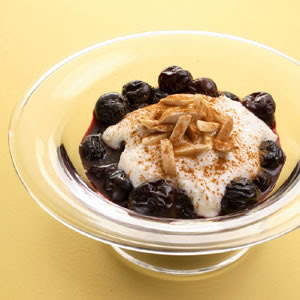 Cherries with Ricotta & Toasted Almonds Dessert Recipes
