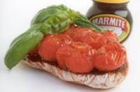 Crushed Roasted Tomatoes on Marmite Ciabatta Food Recipe
