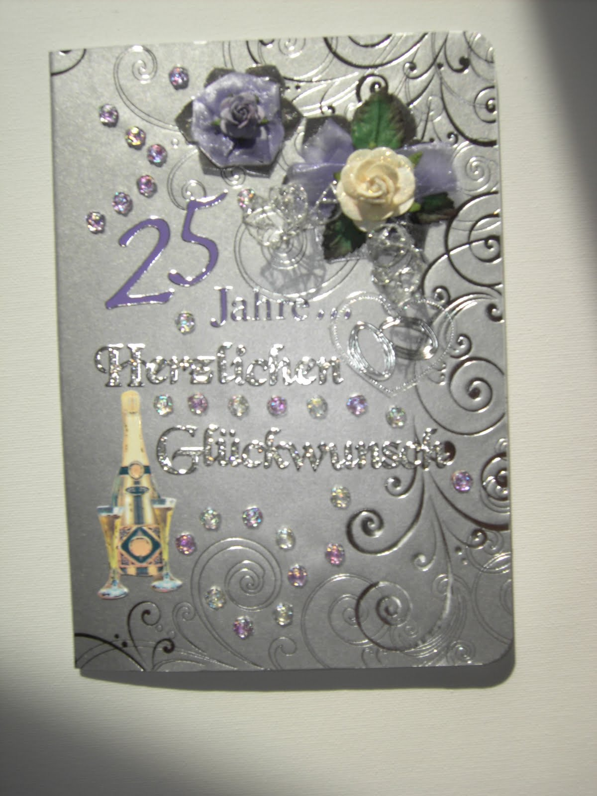 handgemacht-von-renate: 25 Jahre Eheleben - Glückwunsch