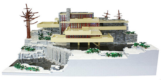 Kingy graphic design history falling water frank lloyd wright - Falling waters lego ...