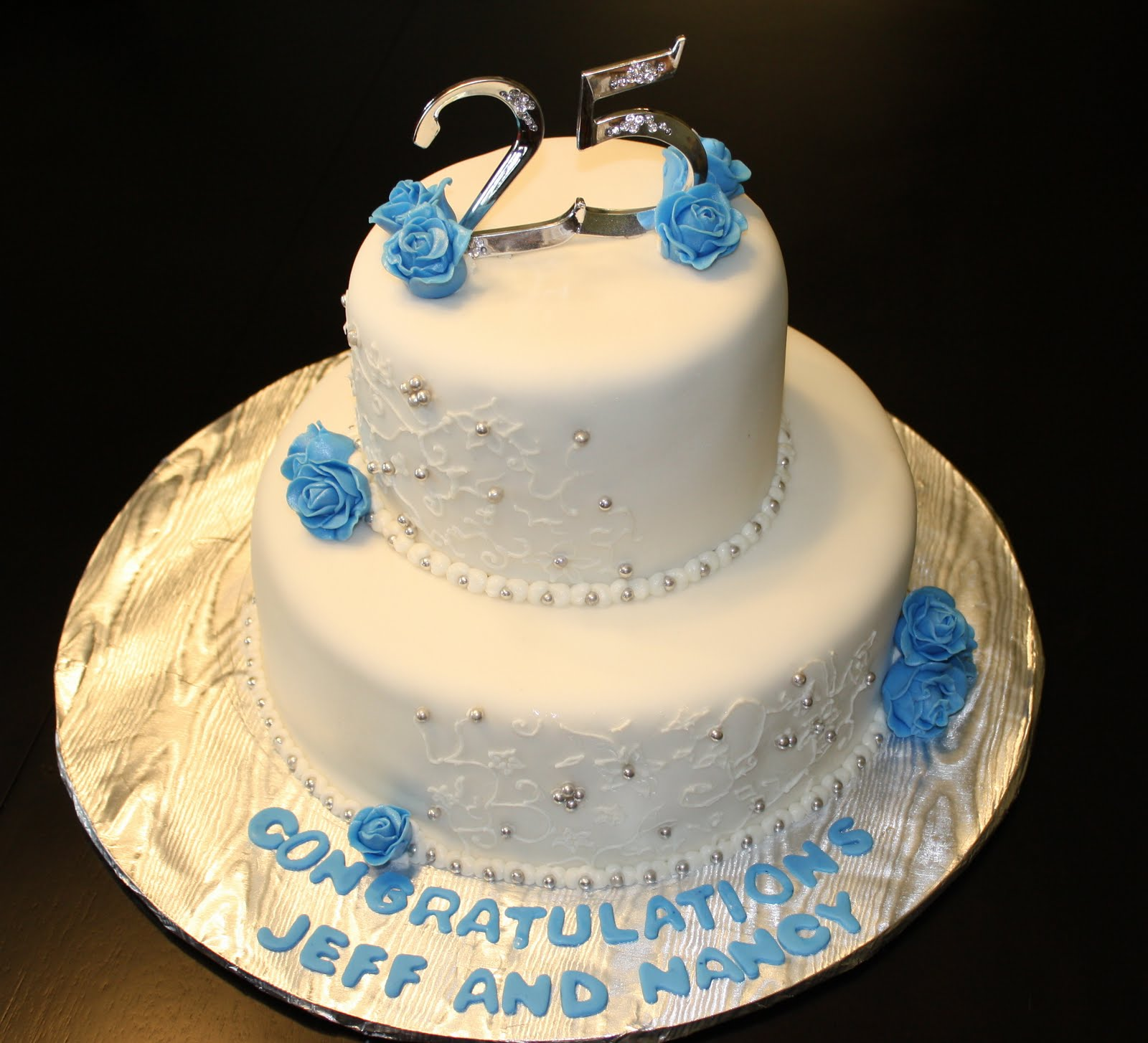 Pictures of 25Th Anniversary Cakes http://hock-cakes.blogspot.com/2010/11/25th-wedding-anniversary.html
