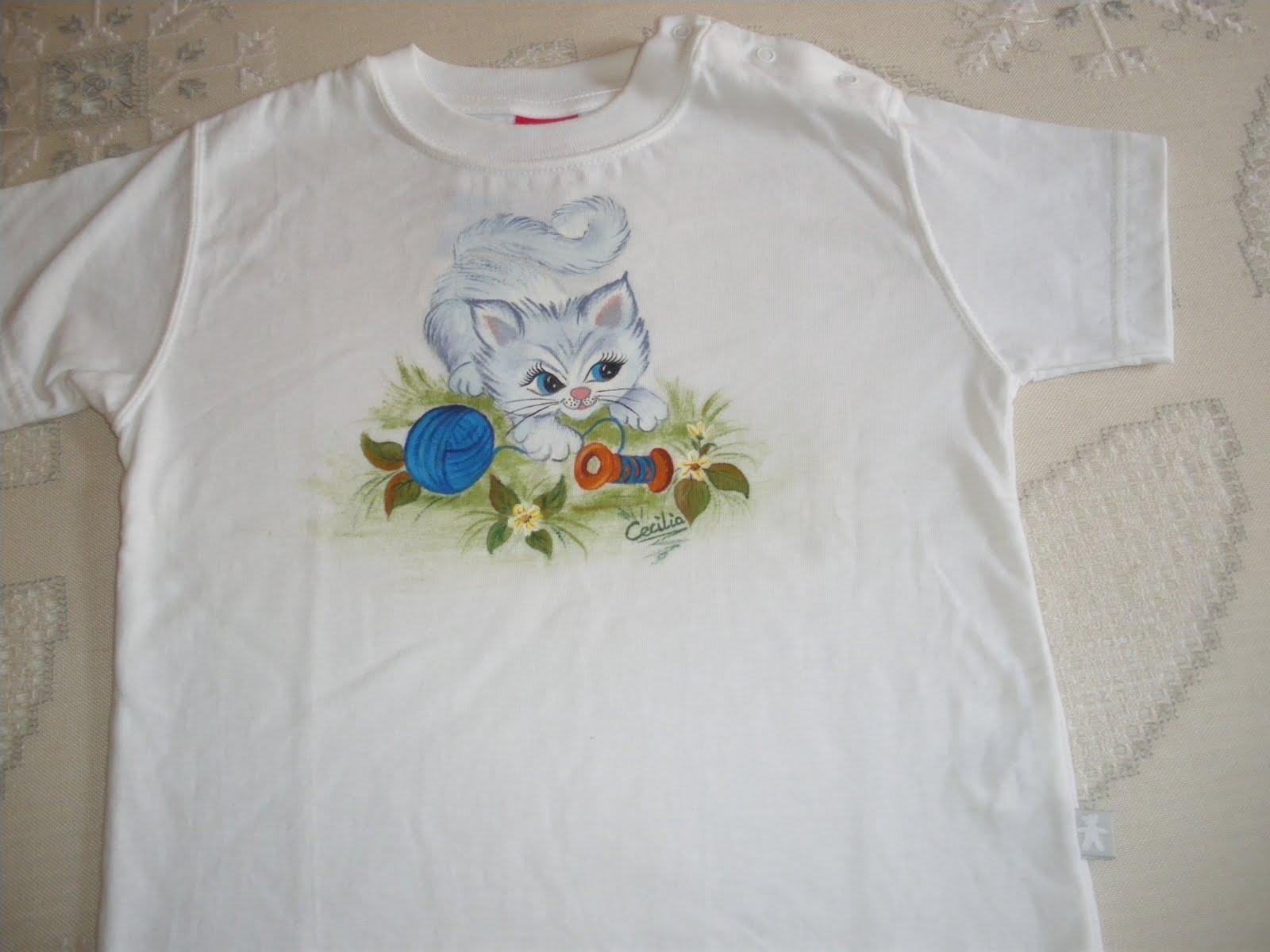Artesania pintura en tela y manualidades camiseta de ni o - Pinturas para pintar camisetas ...