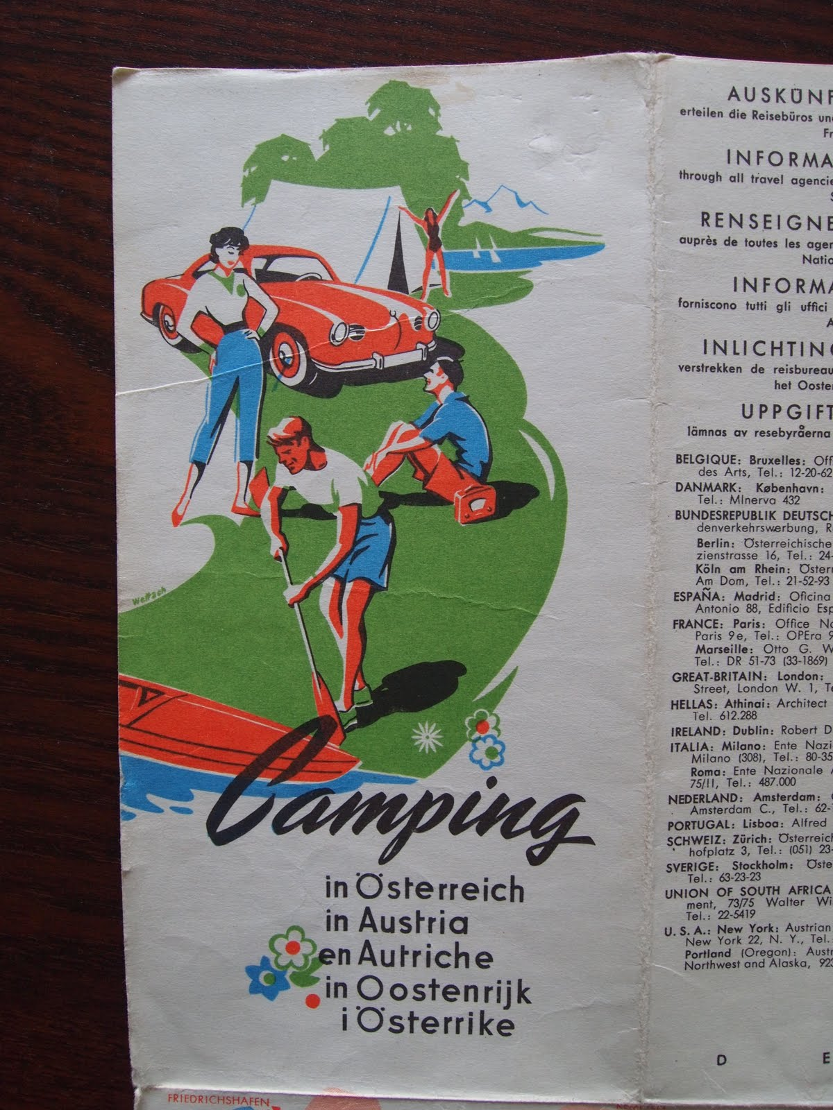 caught my eye on a really cool map of camp sites in austria dating from 1960 not the most practical car to take camping but looks great all the same