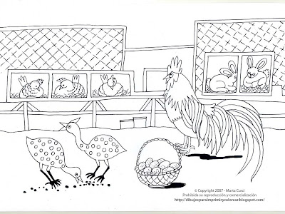 Coloring Pages Of Farm Animals
