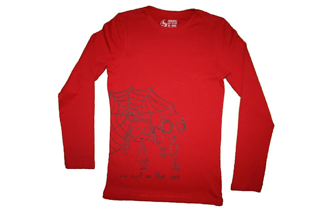 """we met on the web"" shirt - 48 lei"