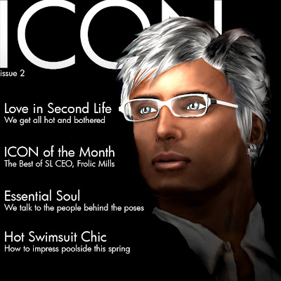 ! April Cover GLANCE   Second Life Fashion PR Agency | Our Media Coverage
