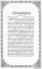 Partitura original de La Internacional