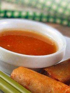 Sweet chili sauce & lumpia Shanghai