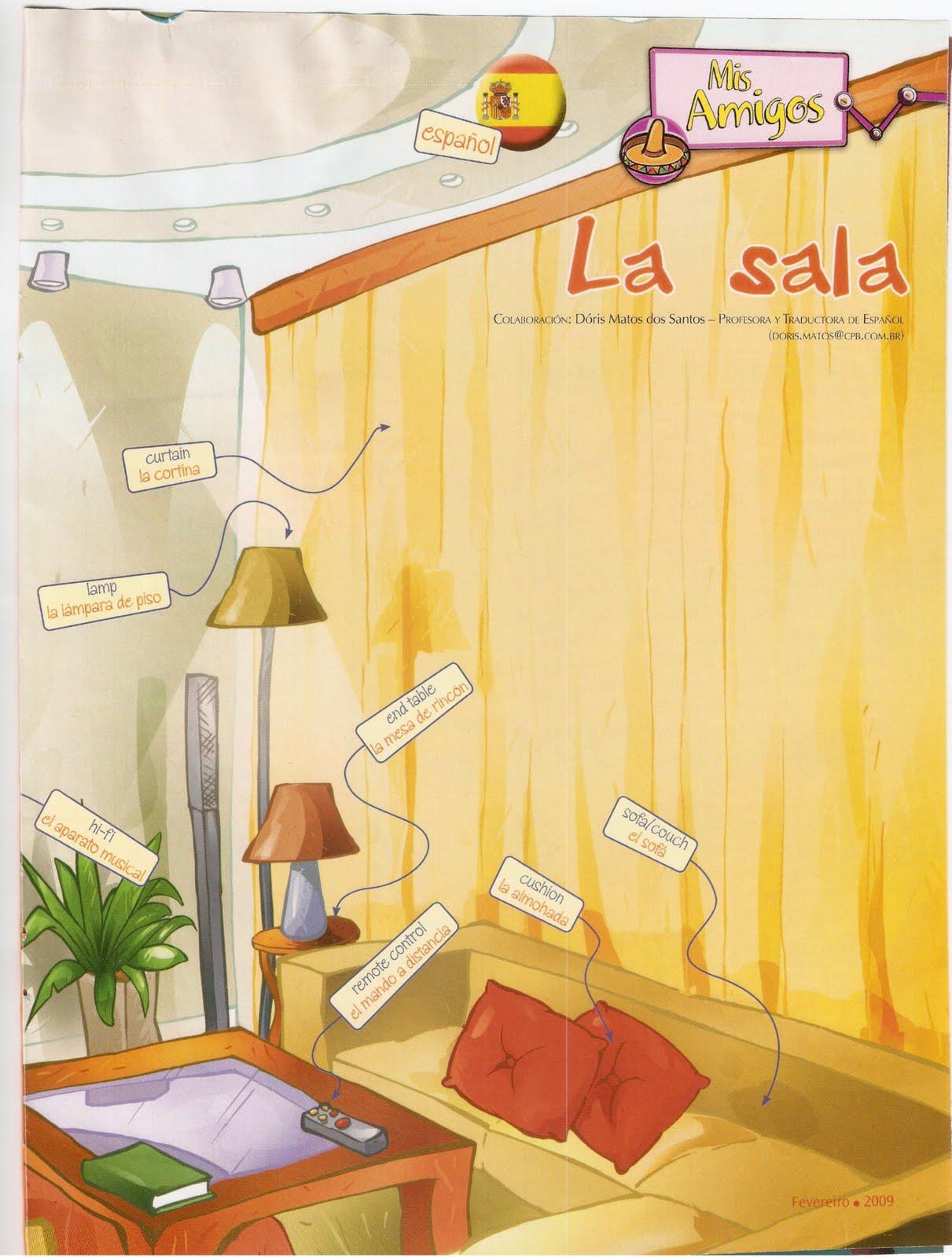 Sala De Estar Em Espanhol ~ sala de estar é um dos locais mais frequentados pela família