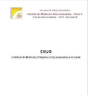 Certificat de Médecine d'Urgence et de préparation à la Gard Cmug