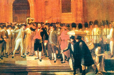 19 de abril de 1810 con el historiador Guillermo Morón en la Universidad Nueva Esparta