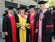 De izquierda a derecha Dr. Alfredo Catalan, Dr.Antonio Paris, Dr Nicolás Mangieri y Profesor Avalos