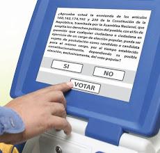 REFERENDO  ENMIENDA CONSTITUCIONAL 2009 Ésta es la pregunta que aparecerá en la Máquina de Votación