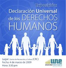 """invitacion este jueves 4 de marzo a la exposición denominada """"Declaración de los Derechos Humanos"""
