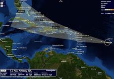 """Temporada de Huracanes  """"Ana"""" se forma en el Atlántico y viene seguida de """"Bill"""", la segunda tormen"""