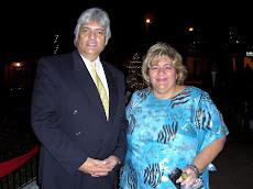 Juan Miguel Avalos y la Alcaldesa de El Hatillo Myrian Do Nascimento