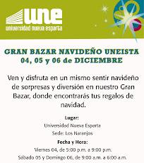 Bazar Navideño UNE 4, 5 y 6 de Diciembre