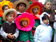 150 niños en escena. Martes 08 de Diciembre se trasladarán a la Iglesia de la Boyera,