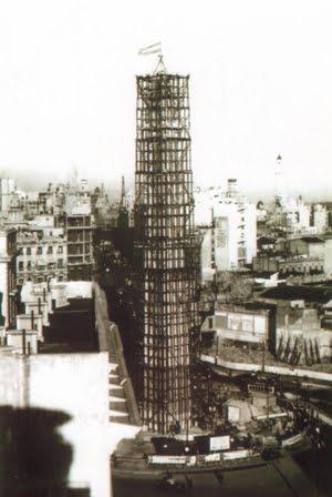 El obelisco en construcción - 1936 -