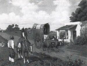 Transportes del siglo XIX - pintura de Prilidiano Pueyrredón