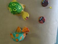Tartaruga, Joaninha e Aranha