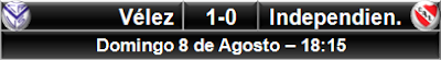 Vélez Sarsfield 1-0 Independiente Avellaneda