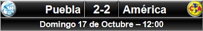 Puebla 2-2 América