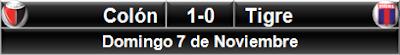 Colón 1-0 Tigre