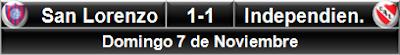 San Lorenzo 1-1 Independiente