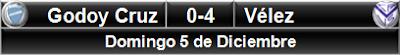 Godoy Cruz 0-4 Vélez Sarsfield