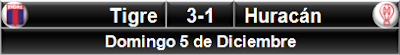 Tigre 3-1 Huracán