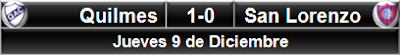 Quilmes 1-0 San Lorenzo