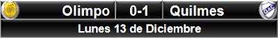 Olimpo 0-1 Quilmes